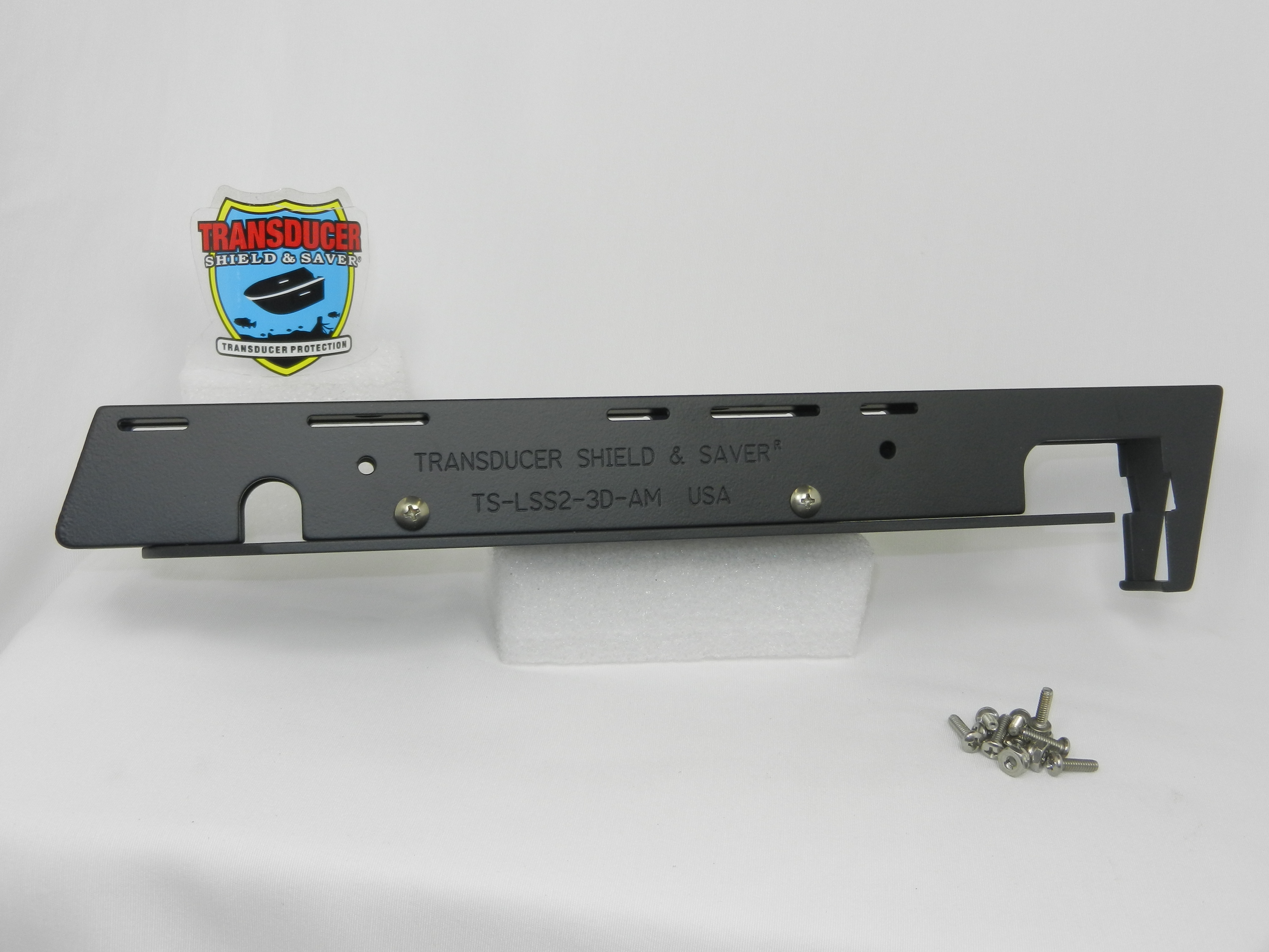 Transducer shield and saver ts lss2 3d am to fit lowrance for Lowrance trolling motor mount