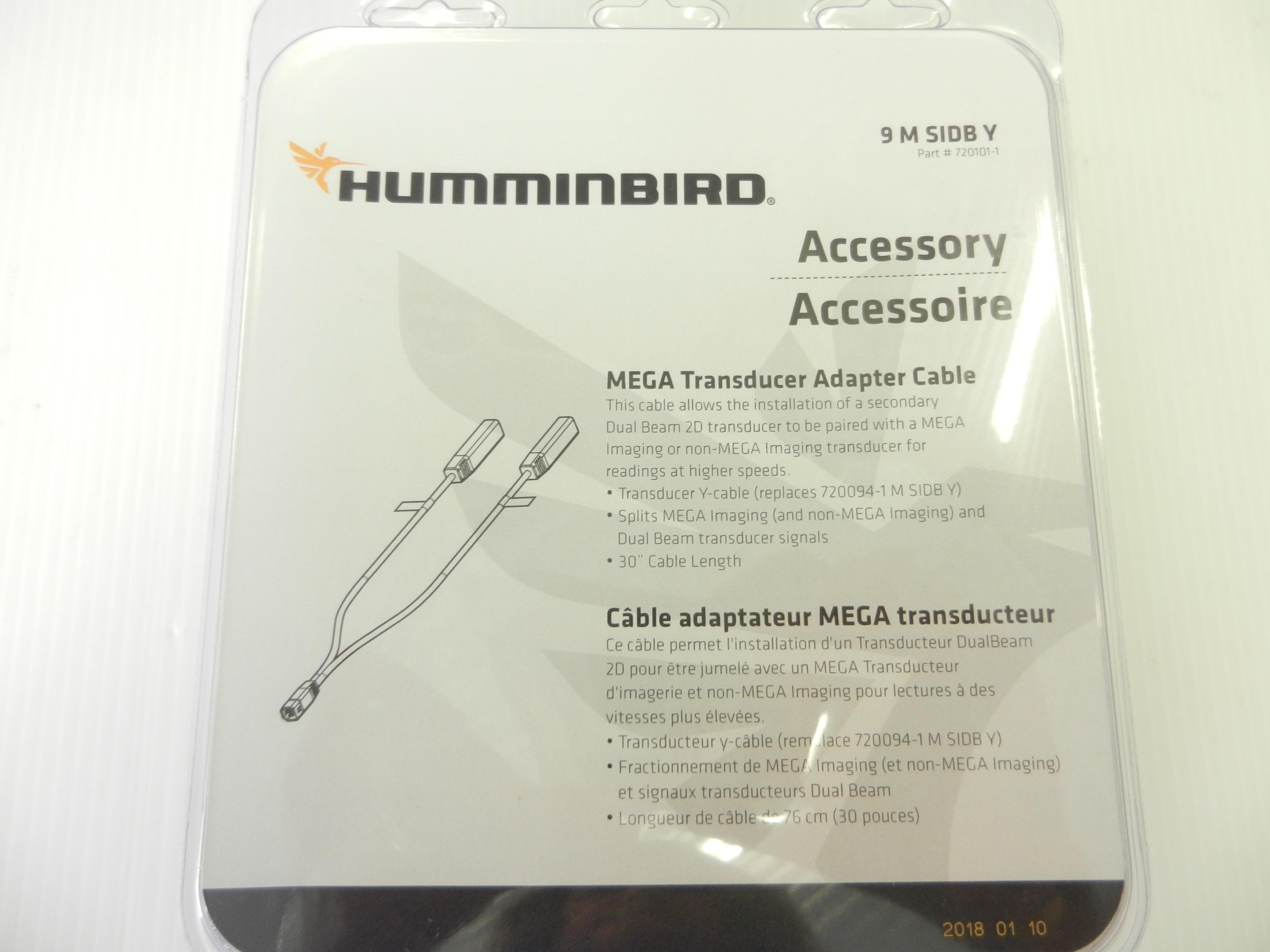 Humminbird 720101-1 9 M Sidb Y 9-Pin Side Imaging Dual Beam Splitter Cable