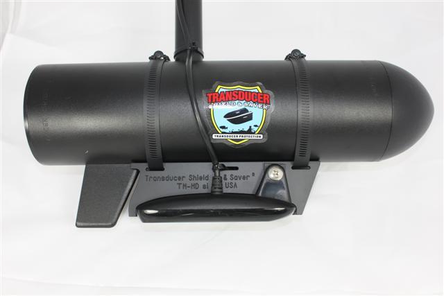 Transducer shield and saver tm hdsi fits humminbird hdsi for Lowrance trolling motor transducer installation